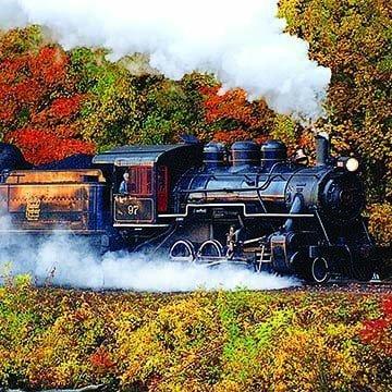 Essex vintage steam train billowing smoke
